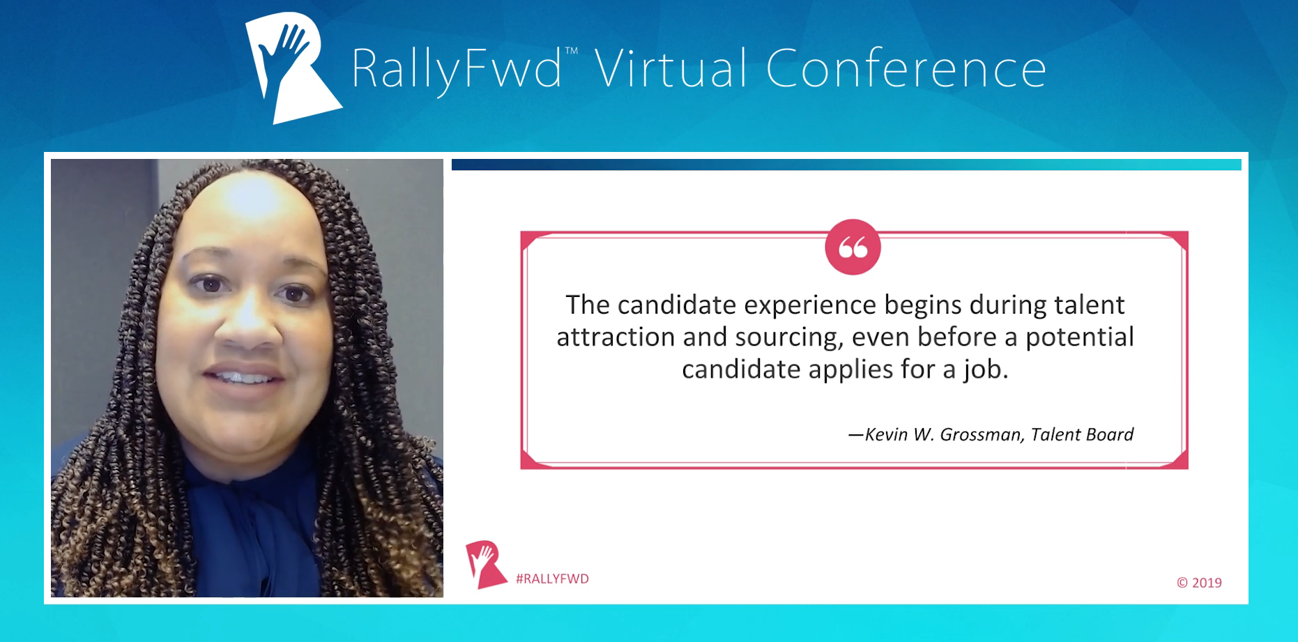 Presenter Shavonne Thomas of AstraZeneca shares the importance of candidate experience.